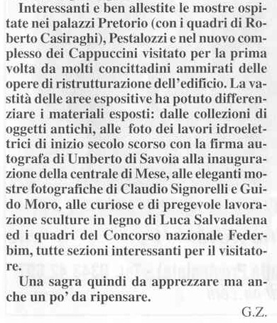 La Voce deklla Valchiavenna (Setembre2003)